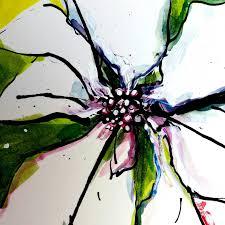 Bettina Malt Weihnachtsstern Blüte