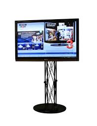 Flat Screen Display Stand TV Monitor Stands Tradeshow Display 42