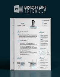 2016 Word Precise Blue Resume Letter Graphic Resume