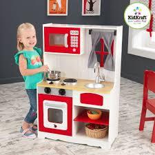 Destockage Kidkraft Cuisine En Bois De Campagne Rouge Dinette
