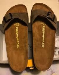 Comfortfusse Shoes Size Chart Details About W 7 5 Comfortfusse Size 38 Sand Adal Leather Sandal Women Adal D01 03 43964636