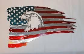 sign patriotic eagle head 18x11