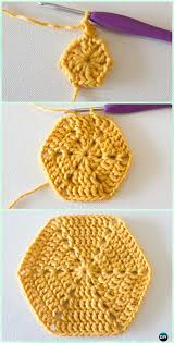 Hexagon Crochet Pattern Extraordinary Crochet Hexagon Motif Free Patterns Instructions