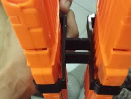 Dual Magazine Holder Amazing Dual Magholder For NERF Nstrike 32clip By Reversehaven Thingiverse