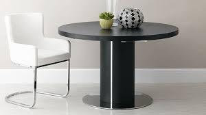 round black wood veneer easy extending dining table