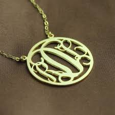 circle 18ct solid gold initial monogram name necklace the name jewellery