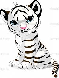 Small Picture TigerCubColoringPages Cute white tiger cub Stock Vector