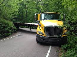 to enlarge a stuck truck in june courtesy of vermont dmv