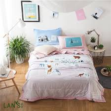 100%Washable Cotton Summer Quilts With Pillowcases Animal Printed ... & 100%Washable Cotton Summer Quilts With Pillowcases Animal Printed Duvets  Thin Blankets Bedspreads Comforters 3pcs Adamdwight.com