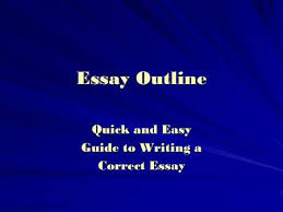 a review  introduction paragraph   an opening sentence that  essay outline quick and easy guide to writing a correct essay