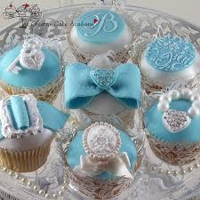 11 Light Blue And White Wedding Cupcakes Photo Tiffany Blue