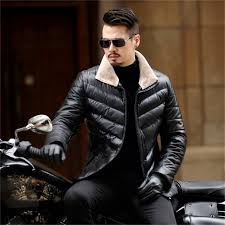 2018 new l 4xl motorcycle jacket warm winter sheepskin mens leather jacket men leisure fur coat