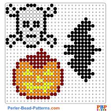 Halloween Perler Bead Patterns Cool Halloween Perler Bead Pattern And Designs Bead Sprites Printable PDF