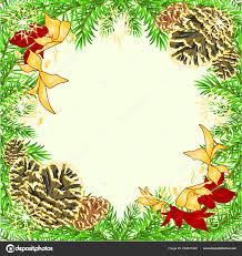 Weihnachten Und Neujahr Rahmen Dekoration Die Rote Und