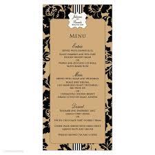 Cartouche Rose Menu Card