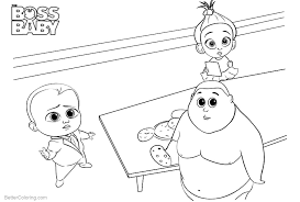 Boss Baby Coloring Pages Food On The Table Free Printable Coloring