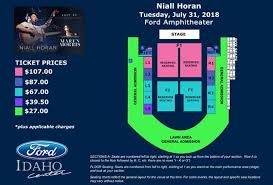 Niall Horan Seating Chart Events Niall Horan Flicker World Tour 2018 Ford Idaho Center