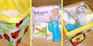 diy gift idea for a mum to be baby essentials hamper