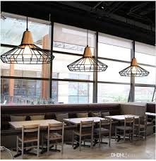 loft iron pendant light vintage industrial lighting wooden chandeliers bar cafe bedroom restaurant nordic country style iron hanging light home light