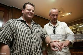 Vernon Gibbs and Tony Hall look, 15 December 2006, at their the two... News  Photo - Getty Images