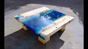 lagoon tables that i made by merging resin with cut travertine rh you com diy resin wood table diy resin sink