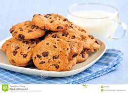 chocolate chip cookies and milk. Exellent And Download Milk And Chocolate Chip Cookies Stock Image  Of Brown  Chocolate 8216593 Throughout O