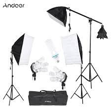 andoer photography studio portrait light lighting tent kit photo equipment 3 softbox 2 4in1 light socket
