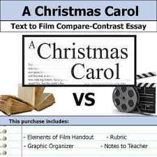 a christmas carol text to film compare contrast essay bundle  a christmas carol text to film compare contrast essay bundle