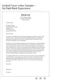 Housekeeping Cover Letter No Experience Resume Template 2018 Bunch