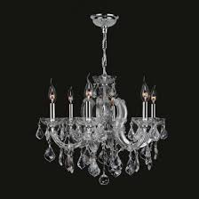 worldwide lighting w83121c20 cl catherine 6 light chrome finish and clear crystal chandelier