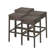 Bar Stool  Patio Furniture Bar Stools And Table Tuscan Outdoor Outdoor Wicker Bar Furniture