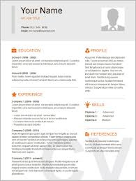 Free Printable Sample Resume Templates Resume Resume Examples