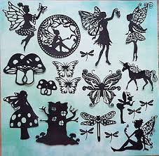 15 Fairy Garden Die Cuts Silhouette Fairies Unicorn