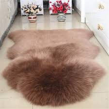 faux animal hide fur area rug 8x10 white fluffy bedroom rugs interior
