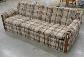 1970s 80s colonial hide a bed couch