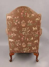 20th century pair of victorian style beautifully upholstered wingback armchairs for