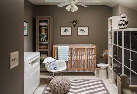 baby bedroom ideas small room baby nursery stuff sets darkbrown cream wall paints hang fan ceiling