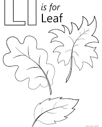 Beautiful Letter L Coloring Pages In Line Drawings Learning Page