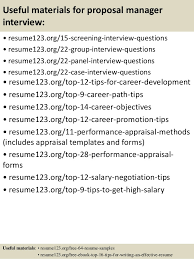 resume objectives for managers top 8 proposal manager resume samples