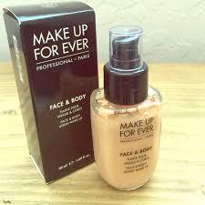 makeup forever face body foundation 32 95 full bottle water based foundation