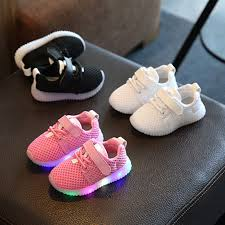 Baby Girl Shoes With Lights Children Boys Girls Kids Led Light Running Sneakers Flash