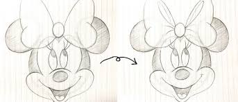 ミニーマウスのかわいいイラストの描き方ミニーを描いてみた もう