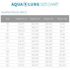 Aqualung Fins Size Chart Aqua Lung Mens Aquaflex 3mm Jumpsuit