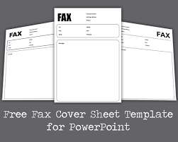 Microsoft Fax Templates Free Download Free Fax Cover Sheet Template For Powerpoint