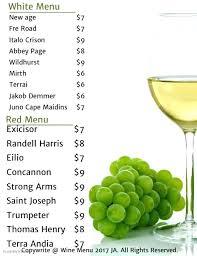 Free Wine List Template Download Wine Menu Template Wine Menu Customize Template Wine List Menu