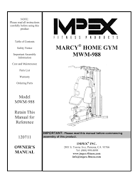 marcy home gym mwm 988 impex fitness catalog pages 1 15 text version fliphtml5