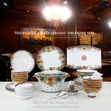 dinner dish sets. Interesting Dinner Chinese Porcelain Dinnerware Fine Bone China Set Luxury  Sets Dinner Dish Gold Plated For Dinner Dish Sets O