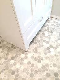 hexagon vinyl flooring getting a hex tile look with floor tarkett