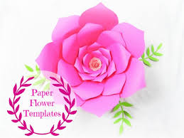 Paper Flower Printables Diy Wedding Paper Flowers Flower Templates Svg Cut Files Etsy
