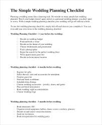 complete wedding checklist simple wedding checklist 23 free word pdf documents download